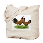 Gold Brabanter Chickens Tote Bag