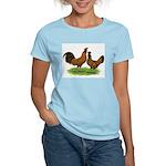 Gold Brabanter Chickens Women's Light T-Shirt