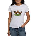 Gold Brabanter Chickens Women's T-Shirt