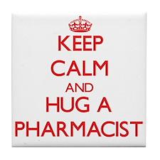 Keep Calm and Hug a Pharmacist Tile Coaster
