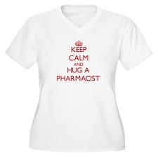 Keep Calm and Hug a Pharmacist Plus Size T-Shirt