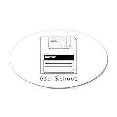Old School 22x14 Oval Wall Peel