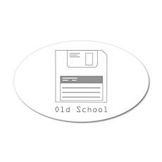 Old School 38.5 x 24.5 Oval Wall Peel