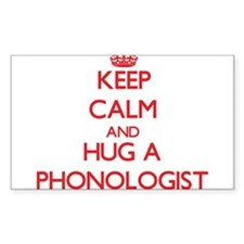 Keep Calm and Hug a Phonologist Decal