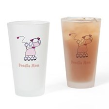 Poodle Mom Drinking Glass