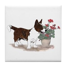 Brindle Cardigan Welsh Corgi Tile Coaster