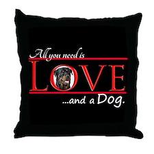 Love a Rottie Throw Pillow