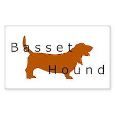 Basset Hound Rectangle Decal
