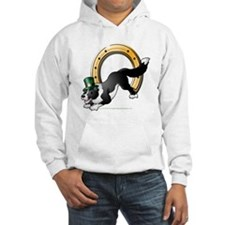 Irish Border Collie: Black and White Hoodie
