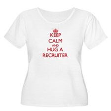Keep Calm and Hug a Recruiter Plus Size T-Shirt
