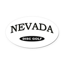 Nevada Disc Golf Oval Car Magnet