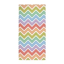 Cute Rainbow Chevron Pattern 1 Beach Towel