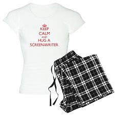 Keep Calm and Hug a Screenwriter Pajamas