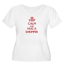 Keep Calm and Hug a Shrimper Plus Size T-Shirt