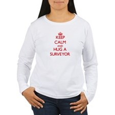 Keep Calm and Hug a Surveyor Long Sleeve T-Shirt
