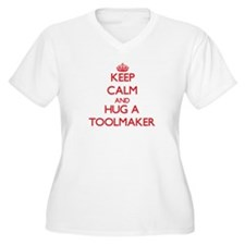 Keep Calm and Hug a Toolmaker Plus Size T-Shirt