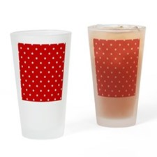 White Stars on Red Drinking Glass