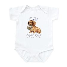 Dachshund Mom Infant Bodysuit