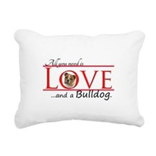 Love a Bulldog Rectangular Canvas Pillow