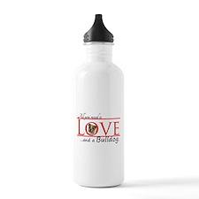 Love a Bulldog Water Bottle