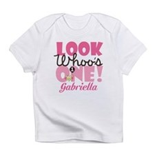 1st Birthday Girl Owl Personalized Infant T-Shirt