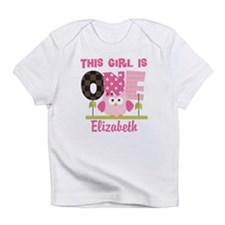 Personalized Girls 1st Birthday Owl Infant T-Shirt
