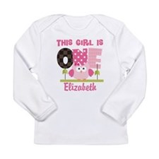 Personalized Girls 1st Birthday Owl Long Sleeve T-
