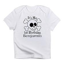 Skull 1st Birthday Personalized Infant T-Shirt