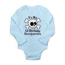 Skull 1st Birthday Personalized Body Suit