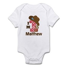 1st Birthday Cowboy Personalized Body Suit