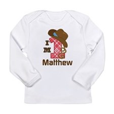 1st Birthday Cowboy Personalized Long Sleeve T-Shi