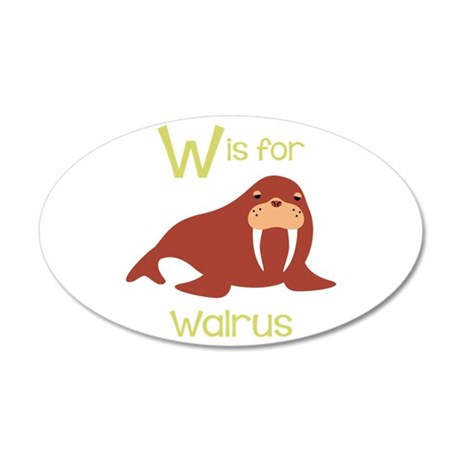 W Is For Walrus Wall Decal