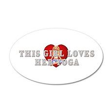TOP Yoga Love 20x12 Oval Wall Decal
