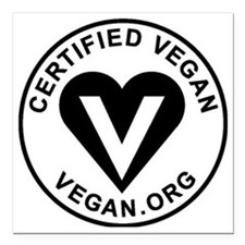 "Certified Vegan Square Car Magnet 3"" x 3"""