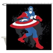 Captain America Minimalist Shower Curtain