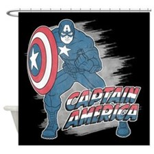 Captain America Vintage Shower Curtain