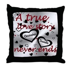 True Love Story Throw Pillow