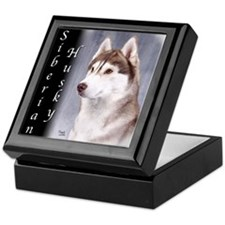 Siberian Husky Red Keepsake Box