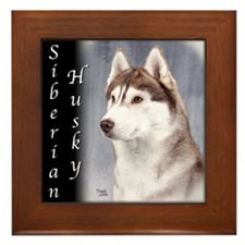 Siberian Husky Red Framed Tile