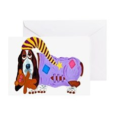 Basset Hound Bedtime Card Greeting Cards