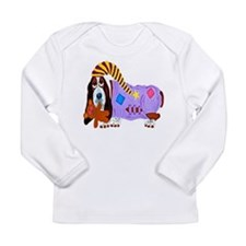Basset Hound Bedtime Long Sleeve Infant T-Shirt