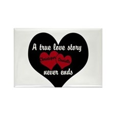 Personalize True Love Story Magnets