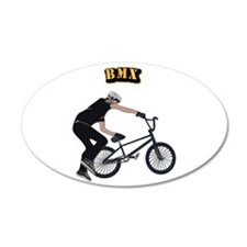 BMX With Text Wall Decal
