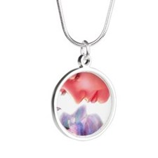 Heal the inner child Silver Round Necklace