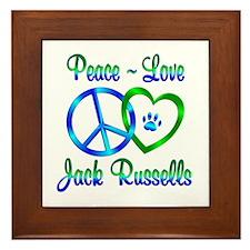 Peace Love Jack Russells Framed Tile