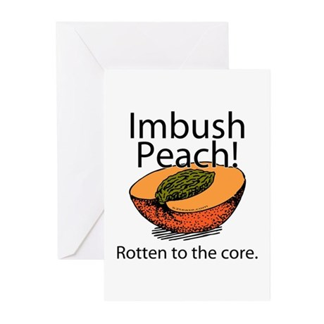 Imbush Peach! Greeting Cards (Pk of 10)