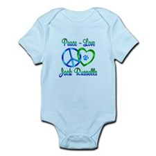Peace Love Jack Russells Infant Bodysuit