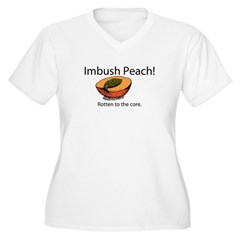 Imbush That Rotten Peach Women's Plus Size V-Neck