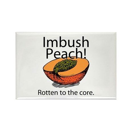 Imbush That Rotten Peach Rectangle Magnet