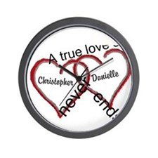 A true love story: personalize Wall Clock